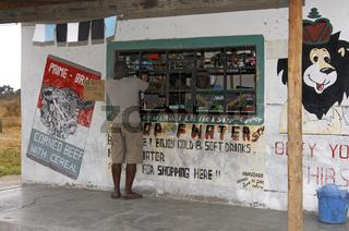 Einkaufsstelle in einen afrikanischem Dorf