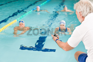 Swimming pool - swimmer training competition