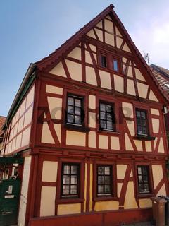 Fachwerkhaeuser, Altstadt, Idstein, Borngasse