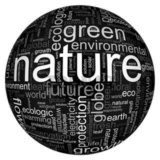 Illustration mit Naturbegriffen