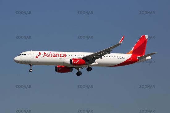 Avianca Airbus A321 Flugzeug