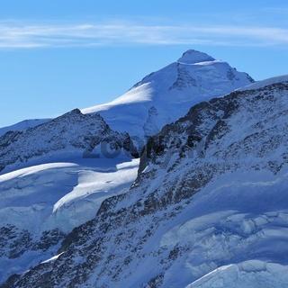 Mount Tschingelhorn seen from Jungfraujoch, Switzerland.