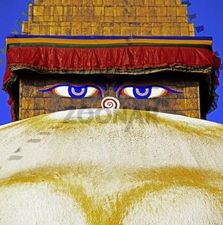 Die alles sehenden Augen Buddhas, Kathmandu, Nepal