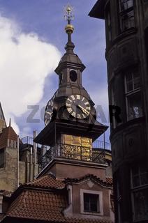 Tschechien, Prag, Praha, juedisches Rathaus, Uhrenturm, Josephst