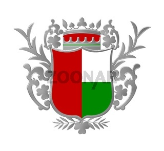 Wappen grün rot silber