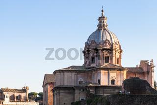 dome of church santi luca e martina in Rome
