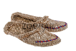 Russian National Wicker Shoes