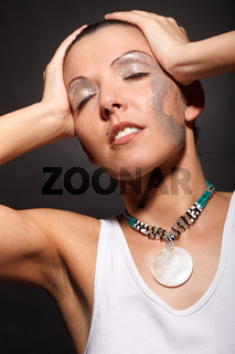 Fashion-Model in Unterhemd