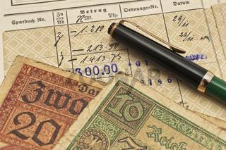 altes Sparbuch   old bankbook