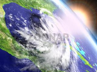 Hurricane Matthew sunrise