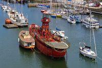 Feuerschiff Scarweather im Museumshafen von Douarnenez  - Lightvessel Scarweather in the harbour of Douarnenez, Brittany