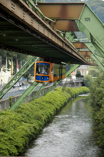 Suspended railway over the Wupper