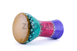 The goblet drum (also chalice drum, tarabuka, darbuka, debuka)