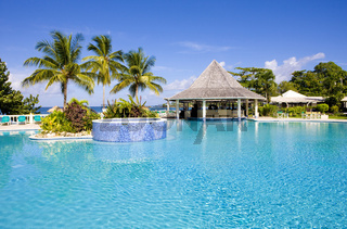 hotel''s swimming pool, Tobago