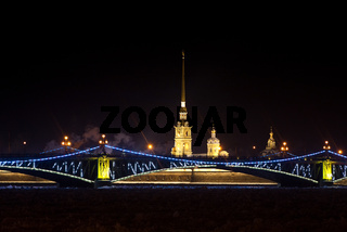 Peter and Paul Fortress before the new year