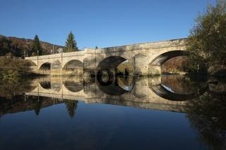 Die Hausener Brücke im oberen Donautal