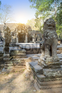 Temple ruins (XII th Century)  on a sunset