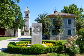 White Church and Monument in Solin, Croatia