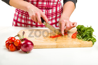 Woman Cooking in the kitchen.