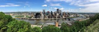 Three Rivers Pittsburgh Pennsylvania Aeiral Panoramic View