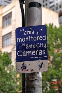 Stadtraumüberwachung in Melbourne