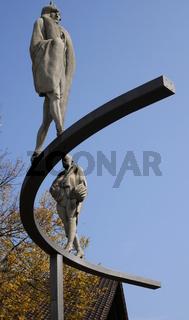 Otto-Dix-Kurve des Bildhauers Peter Lenk,Gaienhofen,Bodensee