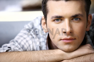 Portrait of the young man close up