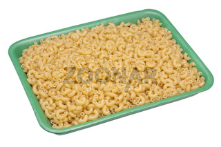halves of tubular rings pasta