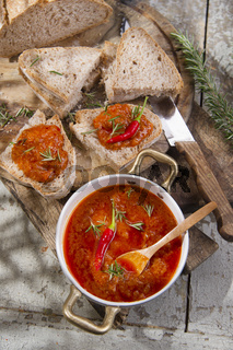 Bruschetta spicy