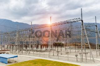 power transformer substation