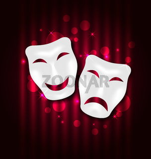 Comedy and tragedy theatre masks