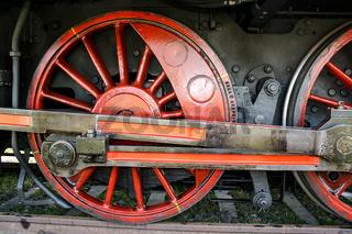 Räder einer alten Dampflock