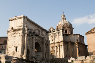 Buildings at the Roman Forum, Italy
