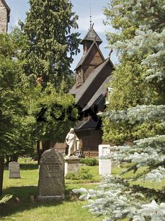 Kirche Wang und ehemaliger deutscher Friedhof