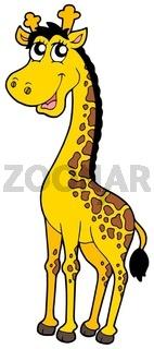 Cute cartoon giraffe - isolated illustration.