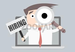 Businessman Hiring Laptop