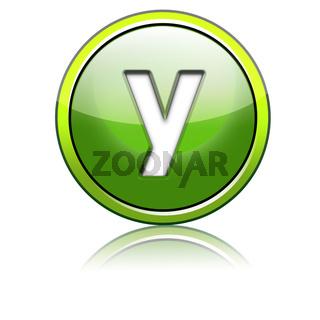 green 3d letter