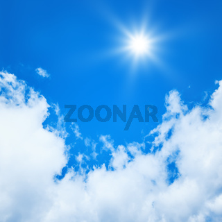blue sky sun