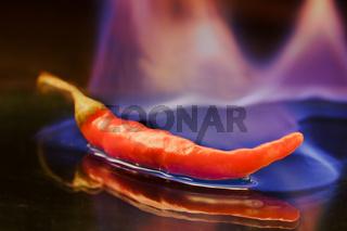 Burning pepper