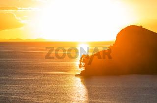 Sunset on Titicaca