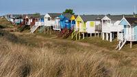 HUNSTANTON, NORFOLK, UK - JUNE 2 : Beach huts at Hunstanton Norfo