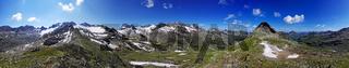 360 Grad Panoramaaussicht vom Piz R6