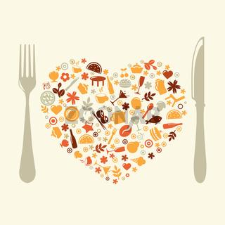 Restaurant Design In Form Of Heart
