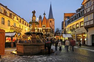 Weihnachtsmarkt auf dem Marktplatz in Michelstadt