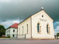 Front synagogue, Jewish Quarter, Hermanuv Mestec town,