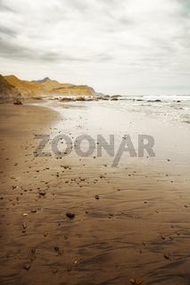 Beach at Marokopa New Zealand