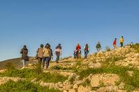 People at Ancient Micenas City, Greece