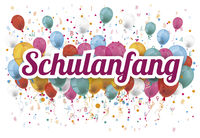 Confetti Balloons Letters Numbers Schulanfang 2