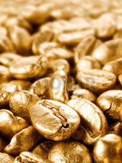 Coffee gold closeup background.