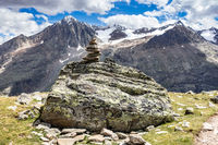 Kreuzspitze und Sennkögel bei Vent im Ötztal, Südtirol, Österreich